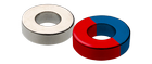Ndfeb magnets - annular rings - magnetized diametrally perpendicular to an appropriate axis